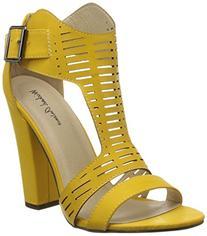 Michael Antonio Women's Knoll Dress Sandal, Yellow, 6 M US