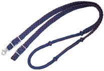 Tough 1 Knotted Cord Roping Reins, Navy/Brown