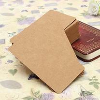 DCDEAL 100pcs Kraft Paper Card Blank Kraft Cardboard Word