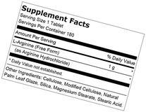 Fitness Labs L-Arginine 1000 Mg, 180 Tablets