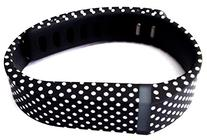 1pc Large L Black with White Dots Spots Replacement Band