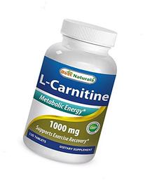 Best Naturals L-Carnitine Double Potency Tablets, 1000 mg,