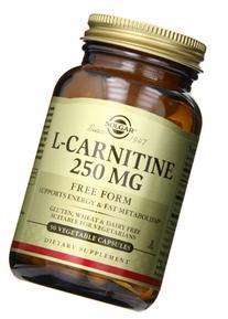 Solgar L-Carnitine Vegetable Capsules, 250 mg, 90 Count