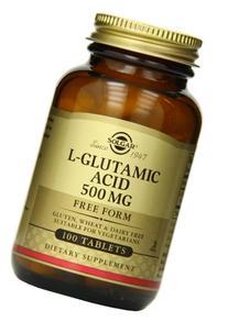 Solgar L-Glutamic Acid 500 mg Tablets, 100 Tabs 500 mg