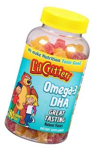 L'il Critters Omega-3 Gummy Fish with DHA, 120 Count, Pack