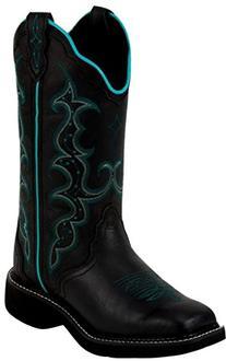 Justin Women's L2902 Black Boot 7 B - Medium
