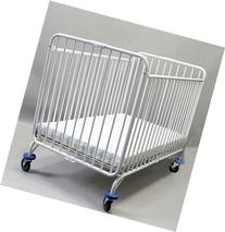 LA Baby Full Size Metal Folding Crib