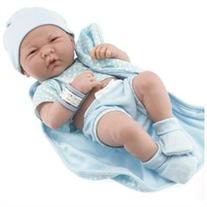 La Newborn - 14 Real Boy Vinyl Doll with Blue Outfit