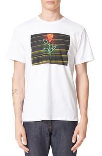 Men's A.p.c. La Rose Graphic T-Shirt, Size X-Large - White