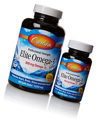 Carlson Labs Elite Omega-3 Gems Fish Oil Chewable Softgels,