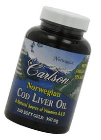 Carlson Labs - Norwegian Cod Liver Oil 390 mg. - 250