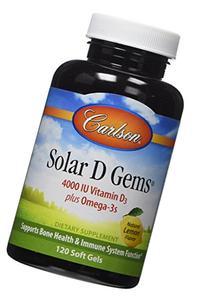 Carlson Solar D Gems, 4,000 IU  D3 + 115 mg Omega-3s, Bone