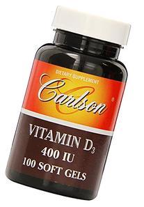 Carlson Labs Vitamin D3 Natural, 400IU  100 Softgels