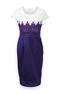 ReliBeauty Women's Lace Crochet Waist Bodycon Dress