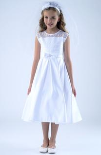 Girl's Us Angels Lace Detail Dress, Size 10 - White