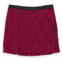 Kensie Womens Lace Overlay Mini Skirt