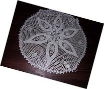 Lace Tablecloth in Pineapple Design, Lace Doily, Lace Table