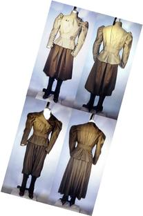 Ladies 1890's Victorian Sporting Costumes with Leggings