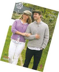 King Cole Ladies & Mens Double Knitting Pattern Round Neck