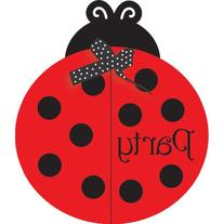 Creative Converting Ladybug Fancy Birthday Party Invitations
