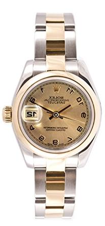 Rolex Ladys 179163 Datejust Steel & Gold Oyster Band, Smooth