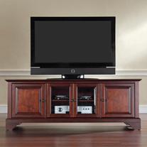 Crosley Furniture KF10005BMA Lafayette 60-inch Low-Profile TV Stand, Vintage Mahogany