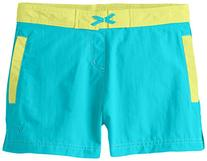 White Sierra Girls Lake Shorts, Vivid Green, Medium