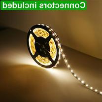 LE 16.4ft 12V Flexible LED Strip Lights, 3000K Warm White,
