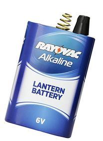 Rayovac Lantern Battery, 6 Volt Alkaline Spring Terminal,