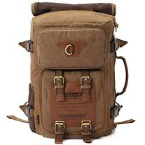 KAUKKO Outdoor Travel Men Backpack, Hiking Camping Canvas