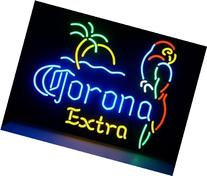 "Larger V53 Corona Extra Parrot Neon Light Sign Board, 20""x16"