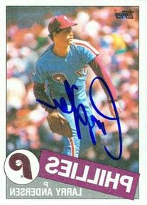 Larry Anderson autographed Baseball Card  1985 Topps #428