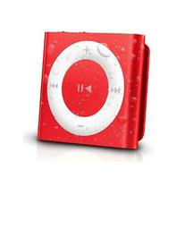 Latest Generation Red Apple iPod Shuffle waterproofed by