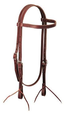 Latigo Leather Browband Headstall, Burgundy