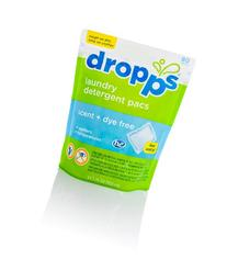 Dropps Laundry Detergent Pacs, Scent, Dye Free, 80 Loads