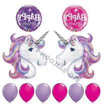 10pc Lavender and Pink Unicorn Birthday Party Balloon