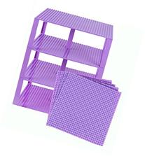 "Premium Lavender Stackable Base Plates - 4 Pack 10"" x 10"""