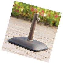 Mainstays Lawson Ridge Umbrella Base with Powder-coated,