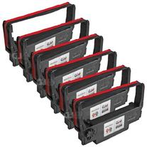 LD © Compatible 6 Pack Black and Red POS Ribbon Cartridges