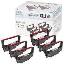 Compatible Epson ERC-34BR Set of 6 Black and Red Ribbons for