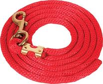 Mustang Poly Lead Rope Red
