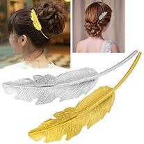 cuhair 2pcs Leaf Design Punk Women Girl Hair Clip Pin Claw