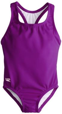Speedo Little Girls'  Learn-To-Swim Solid Racerback, New