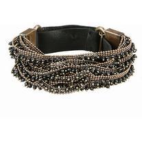 Goti Leather bracelet with diamonds