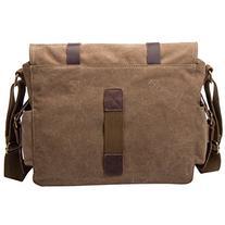 Peacechaosleather Canvas Shoulder Bookbag Laptop Bag + Dslr