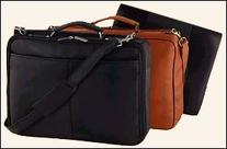 Leather Compact Vaqueta Laptop Briefcase