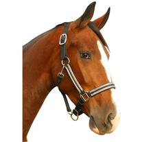 Intrepid International Leather Crown Padded Breakaway Halter
