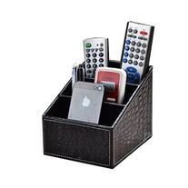 3 Slot Leather Desk Pu Leather Remote Control/controller Tv