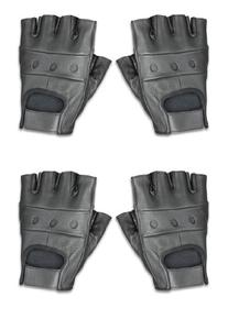 Raider Leather Fingerless Gloves