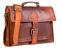 "Handolederco 13"" Leather Messenger Satchel Leather Laptop"